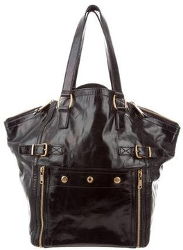 Saint Laurent Patent Leather Downtown Bag - BLACK - STYLE
