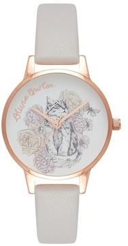 Olivia Burton Women's Animal Leather Strap Watch, 30Mm
