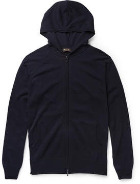 Loro Piana Portland Silk And Cashmere-Blend Zip-Up Hoodie