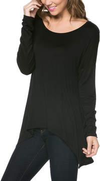 Celeste Black Sidetail Top - Women