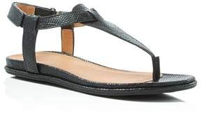 Gentle Souls Oxford Embossed T-Strap Sandals