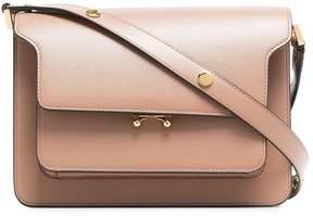 Marni nude Trunk leather shoulder bag
