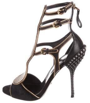 Sergio Rossi Stingray Cutout Sandals