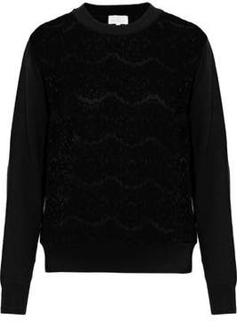 Clu Lace-Paneled Cotton And Cashmere-Blend Sweater