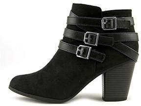 Material Girl Womens Minah Closed Toe Ankle Fashion Boots.