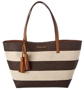 MICHAEL Michael Kors Signature Large Tote. - BROWN - STYLE