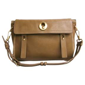 Saint Laurent Brown Leather Handbag Muse - BROWN - STYLE