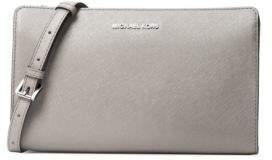 MICHAEL Michael Kors Leather Crossbody Bag - PEARL GREY - STYLE