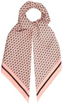 Max Mara Geometric-print cotton-blend scarf