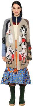 Stella Jean Oversized Embroidered Cardigan