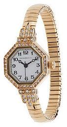 Isaac Mizrahi Live! Crystal Bezel Vintage Stretch Watch