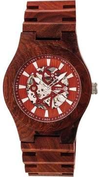 Earth Wood Gobi Automatic Skeleton Bracelet Watch