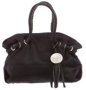 Furla Leather-Trimmed Satin Bag