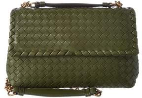 Bottega Veneta Small Olimpia Intrecciato Leather Crossbody.