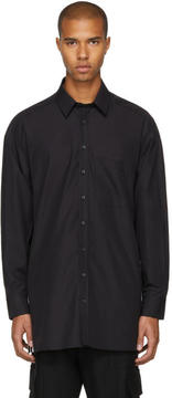 Neil Barrett Black Oversized Side Snaps Shirt