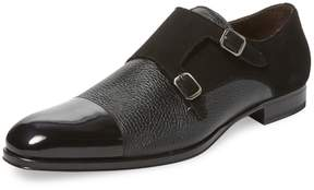Mezlan Men's Cap-Toe Leather Monkstrap