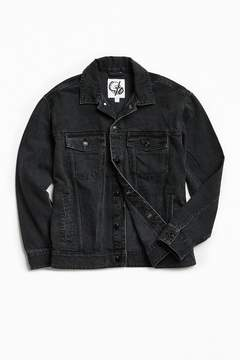 Cheap Monday Care Of Washed Black Denim Trucker Jacket