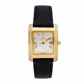 Croton Womens Black Strap Watch-Cn207057ylmp