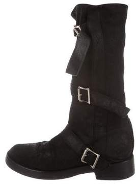 Ann Demeulemeester Suede Mid-Calf Boots