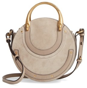 Chloé Small Pixie Top Handle Suede Satchel - Grey