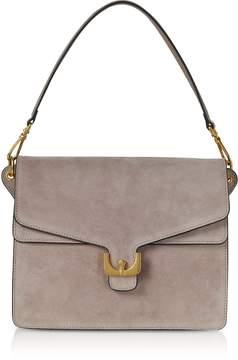 Coccinelle Ambrine Peony Pink Suede Shoulder Bag