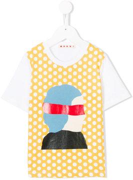Marni Kids dot printed T-shirt