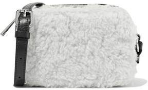 Sandro Aida Leather And Shearling Shoulder Bag