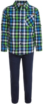 Lee Plaid Shirt and Pants Set - Short Sleeve (For Little Boys)