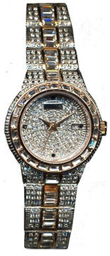 Croton Womens Austrian Crystal Two-Tone Watch