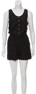Band Of Outsiders Sleeveless Embroidered Romper
