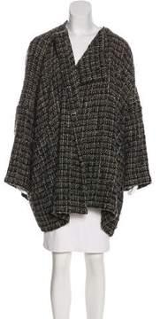 eskandar Tweed Open Front Cardigan