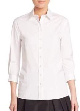 Carolina Herrera Classic Cotton Blouse
