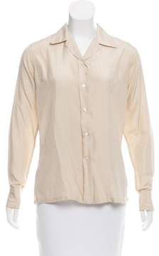 Christian Dior Silk Button-Up Top