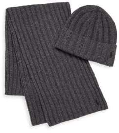 Polo Ralph Lauren Ribbed Cuff Hat & Scarf Set