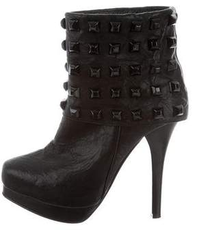 Thomas Wylde Studded Leather Ankle Boots