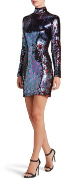 Dress the Population Women's Katy Reversible Sequin Body-Con Dress