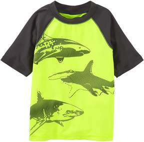 Osh Kosh Oshkosh Bgosh Boys 4-8 Sharks Raglan Rash Guard