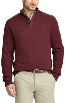 Chaps Big & Tall Classic-Fit Mockneck Sweater