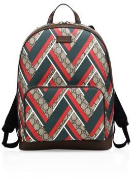 Gucci Chevron Canvas Backpack
