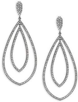 Adriana Orsini Pave Teardrop Earrings