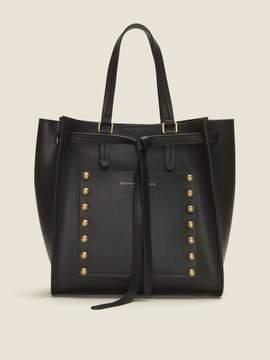 DKNY Del Studded Leather Crossbody