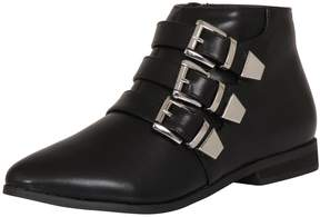 London Rebel *London Rebel Leather Look Ankle Boots