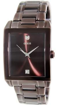 GUESS Men's U0102G1 Brown Stainless-Steel Quartz Watch