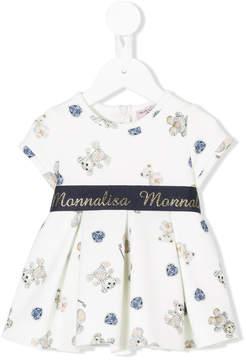 MonnaLisa logo waistband printed dress