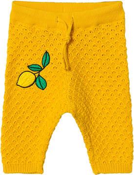 Mini Rodini Yellow Lemon Knitted Trousers