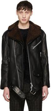 Cmmn Swdn Black Oversized Leather Alec Jacket