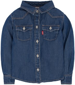 Levi's Baby Girl Western Button-Down Denim Shirt