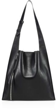 Elena Ghisellini Estia Leather Zip Hobo Bag