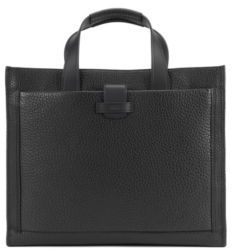 Hugo Boss Varenne Tote Top-Grain Leather Tote One Size Black