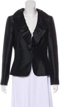 Tahari Wool Ruffled Jacket